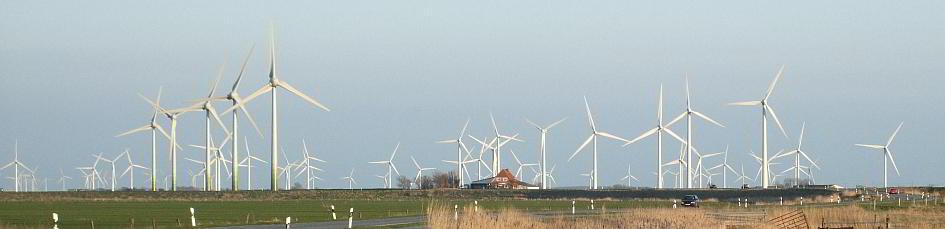 Windkraftanlagen in Nissenshörn in Schleswig-Holstein