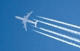 Hochfliegender Airliner