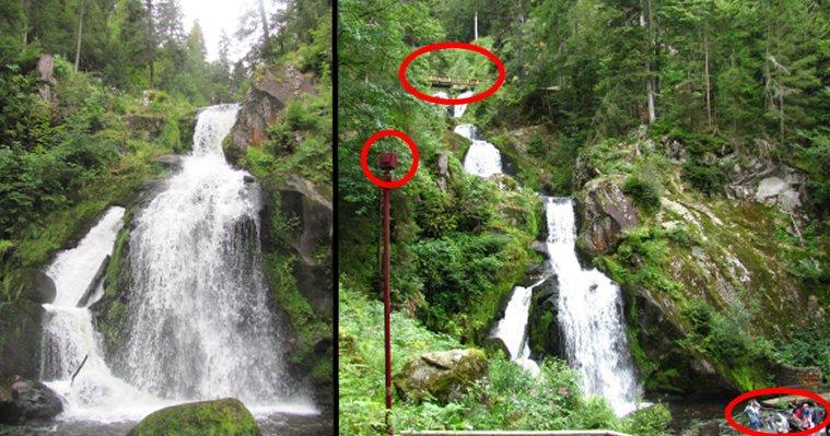 Tribergs Wasserfälle: Ursprüngliche Wildnis? Nein: Gestaltete Landschaft, in vollem Umfang touristisch erschlossen...